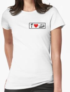 I Heart Cars Land (Classic Logo) Womens Fitted T-Shirt