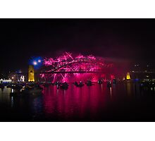 NYE 2013 FIREWORKS | SYDNEY HARBOUR BRIDGE Photographic Print