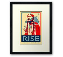 RISE - Idle No More - by Aaron Paquette Framed Print