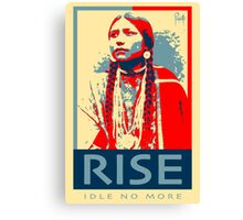 RISE - Idle No More - by Aaron Paquette Canvas Print