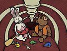 Teddy Bear And Bunny - Hard To Swallow by Brett Gilbert