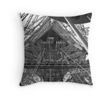 Looking up into the Eiffel Tower. Throw Pillow