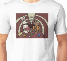Teddy Bear And Bunny - Hard To Swallow Unisex T-Shirt