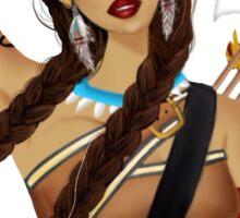 Native American Beauty Sticker