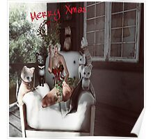 Cats christmas Poster