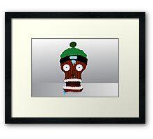 cartoon skull character  Framed Print