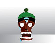 cartoon skull character  Photographic Print