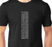 Pi to 100 places (upside down) Unisex T-Shirt