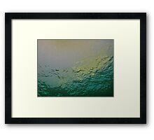 VANITY GREEN Framed Print