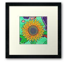 Sarah's Sunflower Framed Print