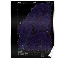 USGS TOPO Map New Hampshire NH Pittsburg 20120608 TM Inverted Poster