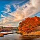 Autumn on the Sheepscote river, Sheepscote Maine by Dave  Higgins