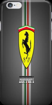 Ferrari Carbon fibre case by jeveli