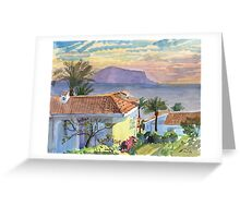 Tropical landscape Greeting Card