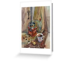 Still life with coffee grinder Greeting Card
