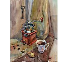 Still life with coffee grinder Photographic Print
