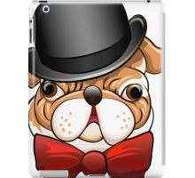 Bulldog in a bowler hat iPad Case/Skin