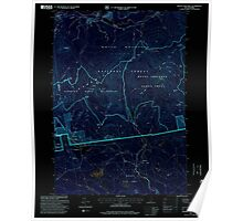 USGS TOPO Map New Hampshire NH Mount Chocorua 329672 1995 24000 Inverted Poster