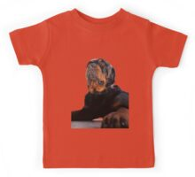 Regal and Proud Male Rottweiler Portrait Isolated Kids Tee