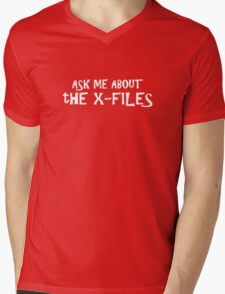 Ask me about The X-Files Mens V-Neck T-Shirt