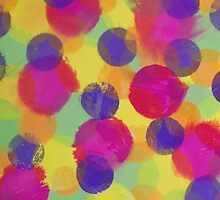 Bleeding Tissue Paper Circles by Justpastone