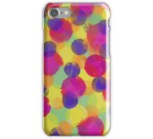 Bleeding Tissue Paper Circles iPhone Case/Skin