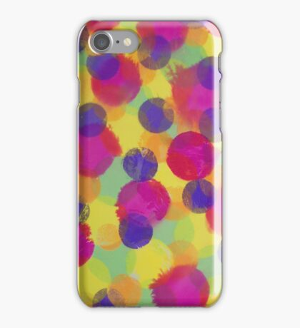 Bleeding Tissue Paper Circles iPhone Case/Skin