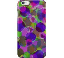 Bleeding Tissue Paper Circles - Solar iPhone Case/Skin
