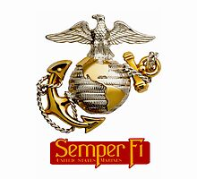 Marines Semper Fi -  iPad Case by Buckwhite