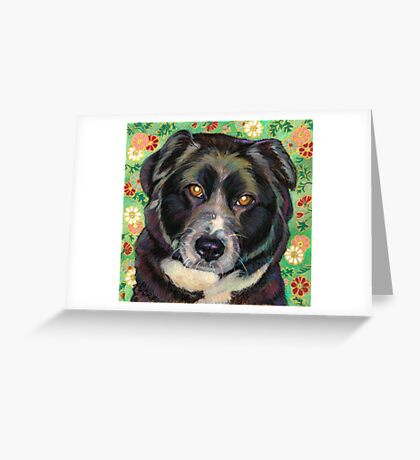 Zoe, a sweet Rescue Dog  Greeting Card