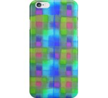 Bleeding Tissue Paper Plaid - Blue iPhone Case/Skin