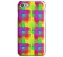 Bleeding Tissue Paper Plaid - Neon iPhone Case/Skin