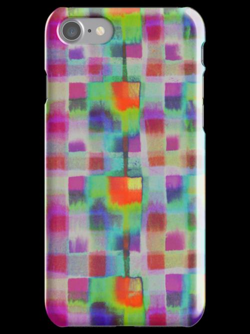Bleeding Tissue paper Plaid - Squares by Justpastone