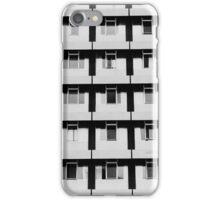 Black & white windows iPhone Case/Skin