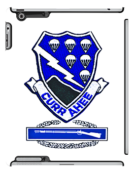 Currahee Patch - 101st Airborne w/CIB -  iPad Case by Buckwhite