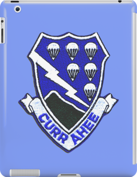 Currahee Patch 101st Airborne -  iPad Case by Buckwhite
