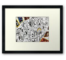'Opening Reception for the Great Artist's New Work (Blah Blah)'  Framed Print