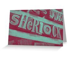 Sherlock ~ Skulls Greeting Card