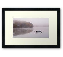 Mist on Loch Faskally, nr Pitlochry, Scotland Framed Print