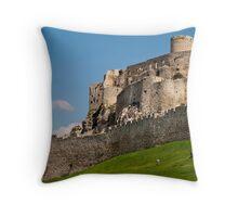 Spissky Castle, Slovakia Throw Pillow