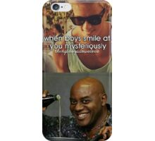 When Boys Smile at You Mysteriously iPhone Case/Skin