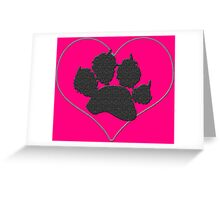 Pawprint in a Heart 1 Greeting Card