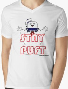 Stay Puft Mens V-Neck T-Shirt