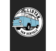 Back to the Future 'Libyan Van Rentals' Logo Photographic Print
