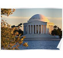 Sunset on the Jefferson Memorial Poster