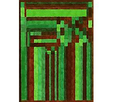 Abstract Art Study Green Brown Poster, Print & Card Photographic Print
