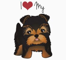 Cute Yorshire Terrier Puppy Dog by ArtformDesigns