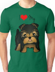 Cute Yorshire Terrier Puppy Dog Unisex T-Shirt