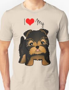 Cute Yorshire Terrier Puppy Dog Unisex T-Shirt