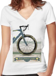 Tour Down Under Bike Race Women's Fitted V-Neck T-Shirt